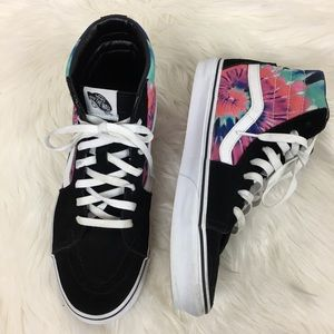 Vans Hightop Tropical Print Sneakers Size 10